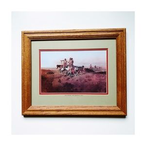 Vintage, Western art/picture with frame!✨